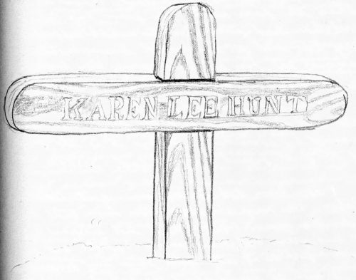 Karen's cross.