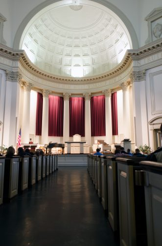 Interior of Hendricks Chapel