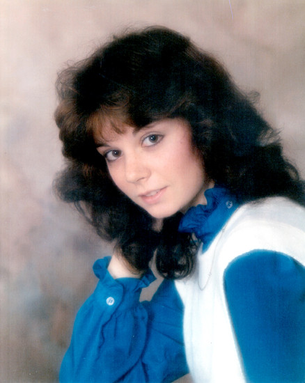 Karen Lee Hunt, High School Portrait, 1986