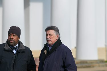 Ed Galvin (right) at the 26th Anniversary Memorial Service