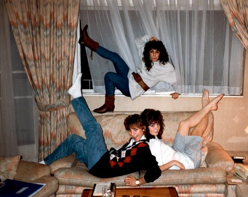 Karen Hunt (right) and roommates, December, 1988