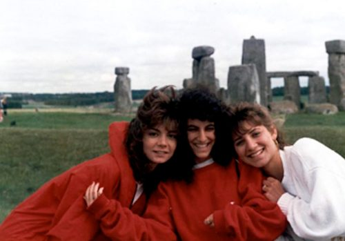 Karen Hunt at Stonehenge, 1988